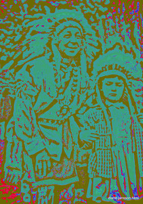 Photograph - bonnie and the indian IV by Diane montana Jansson