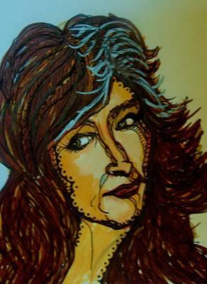 Soul Singer Drawing - Bonnie Raitt by Gerri Rowan