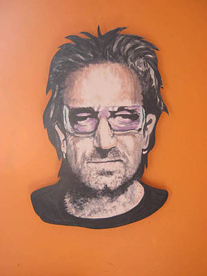 Bono Mural On Board Original by Brendan Melia