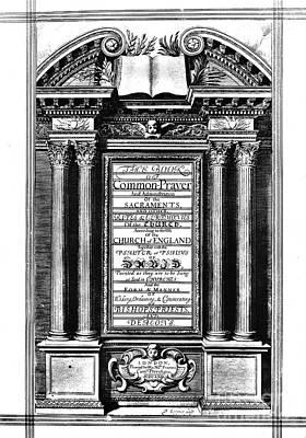 Book Of Common Prayer Art Print by Granger