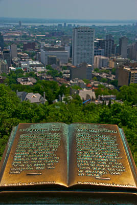 Montreal Streets Photograph - Book With A View by Mike Horvath