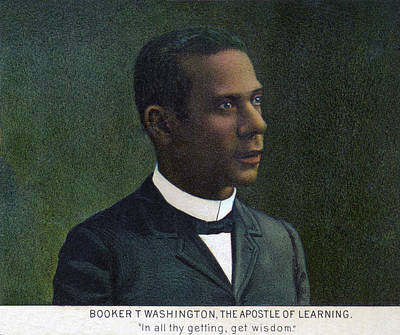 Booker T. Washington, Detail Art Print
