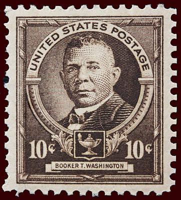 Booker T Washington Postage Stamp Art Print
