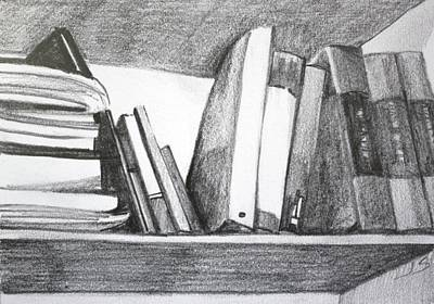 Painting - Books On A Shelf by Jan Swaren