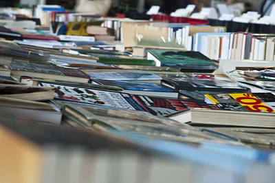 Books On Table At Book Market Original by Magdalena Warmuz-Dent