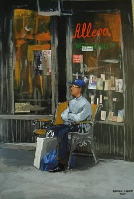 Bookshop  Art Print by Rahman Shakir