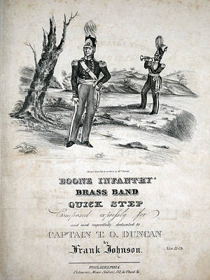 Marching Band Photograph - Boone Infantry Brass Band Quick Step by Everett