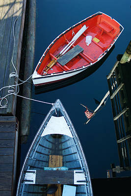 Boothbay Boats 1 Art Print by Ron St Jean