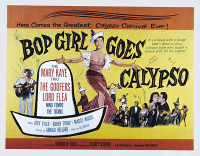 Bop Girl Goes Calypso, Aka Bop Girl Art Print by Everett