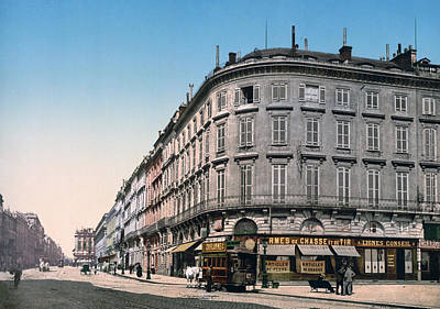 Bordeaux - France - Rue Chapeau Rouge From The Palace Richelieu Art Print by International  Images