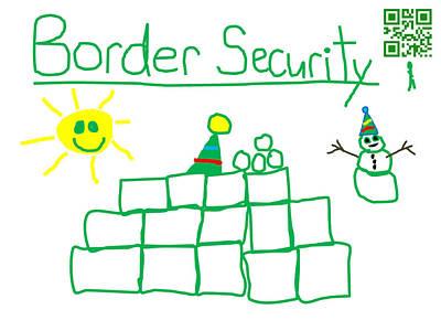 Snowball Fort Digital Art - Border Security Snow Fort by Jeffrey Church