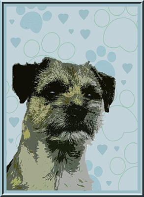 Terrier Digital Art - Border Terrier by One Rude Dawg Orcutt