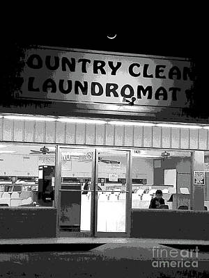 Bored Flat At The Laundromat Art Print by Joe Jake Pratt