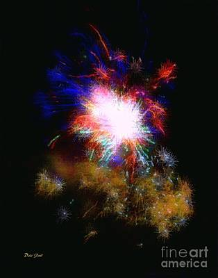 Digital Art - Born On The 4th Of July by Dale   Ford