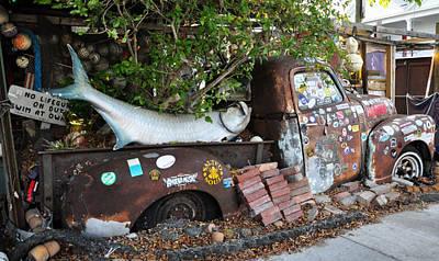 B.o.'s Fish Wagon - Key West Florida Art Print by Bill Cannon