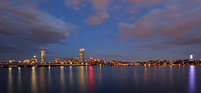 Charles River Photograph - Boston At Twilight by Juergen Roth