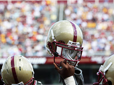 Sports Framed Photograph - Boston College Helmet by John Quackenbos