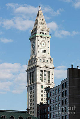 Photograph - Boston Custom House Tower by Clarence Holmes