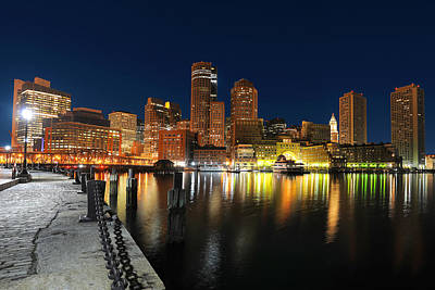Boston Harbor Skyline  Art Print by Shane Psaltis