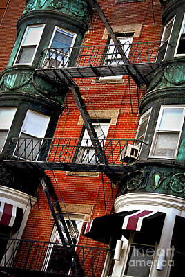 Old Brick Building Photograph - Boston House Fragment by Elena Elisseeva