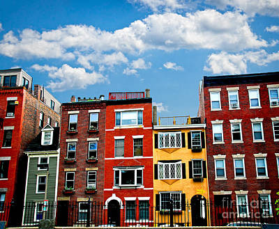 Old Brick Building Photograph - Boston Houses by Elena Elisseeva