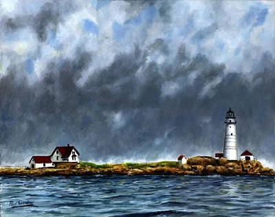 Boston Harbor Islands Painting - Boston Light by Paul Gardner