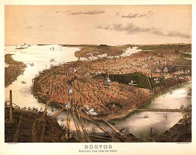 Boston Massachusetts 1877 Art Print by Donna Leach