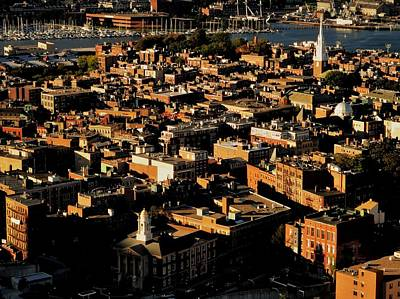 Photograph - Boston North End by Benjamin Yeager