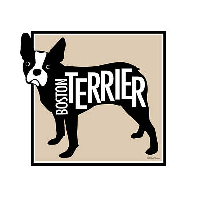 Terrier Digital Art - Boston Terrier Tan 1 by Geoff Strehlow