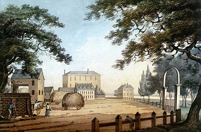Gate Watercolor Photograph - Boston: Theater, 1798 by Granger