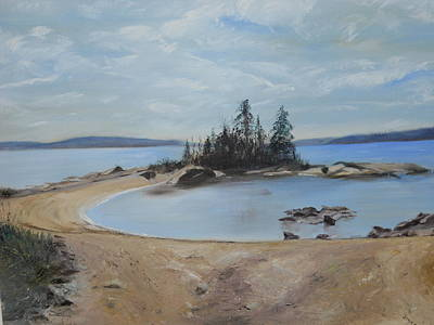 Painting - Boswell's Point-lake Superior by Joyce Reid