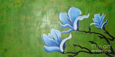 Botanical Blue Original by Holly Donohoe