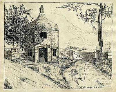 Bottle Lodge Pen Sketch 1932 Art Print by John Chatterley