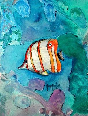 Painting - Bottle Nose Tropical Fish by Gary Partin
