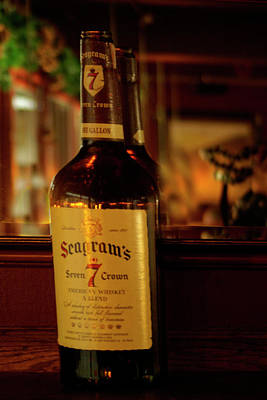 Seagram Photograph - Bottle Of Whiskey Jigger Of Rye by Rianna Stackhouse