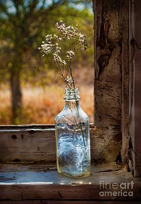 Bottle On Window Sill Art Print