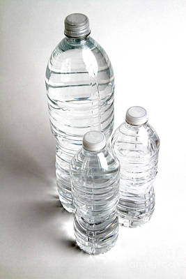 Bottled Water Art Print by Photo Researchers