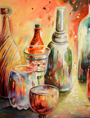 Pop Art Rights Managed Images - Bottles and Glasses and Mugs 02 Royalty-Free Image by Miki De Goodaboom
