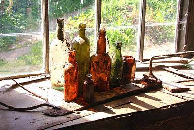 Photograph - Bottles by Ed Lukas