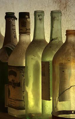 Bottles Still Art Print by Kelly Rader