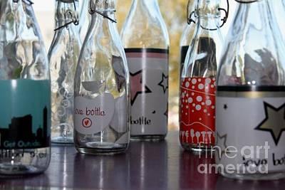 Bottles Art Print by Tanja Hymel