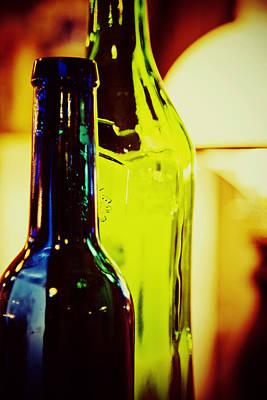 Bottles Art Print by Toni Hopper
