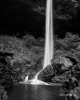 Bottom Of North Silver Falls Art Print by Darcy Michaelchuk