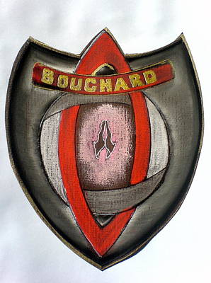 Bouchard Family Crest Art Print by Ahonu