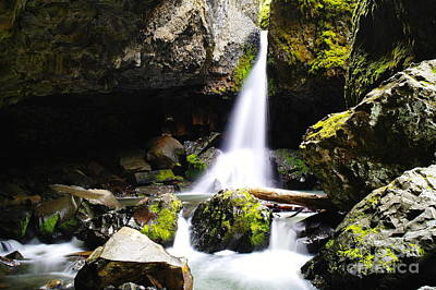 Boulder Cave Falls Revisited Art Print by Jeff Swan