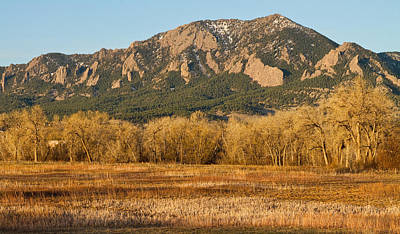 Boulder Colorado Flatiron View From Jay Rd Art Print