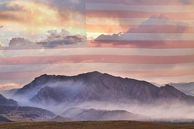 Photograph - Boulder Colorado Flatirons And The Flagstaff Fire Usa by James BO Insogna