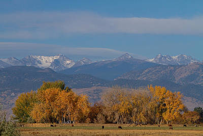 Grazing Snow Photograph - Boulder County Colorado Continental Divide Autumn View by James BO  Insogna