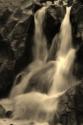Photograph - Boulder Falls In Black And White by Bruce Bley