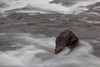 Yellowstone Wall Art - Photograph - Boulder In Yellowstone River by Twenty Two North Photography
